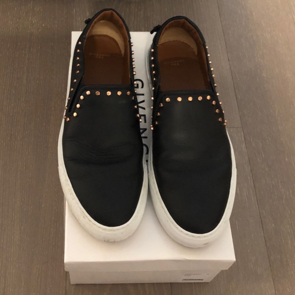 Givenchy Mens Black Leather Loafer Size